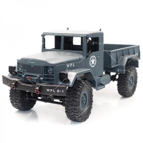 Количка с дистанционно управление американски военен камион с каросерия TOY CAR-9 6