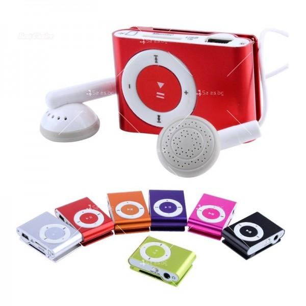Мини МР3 плеър с елегантен дизайн и слушалки 2