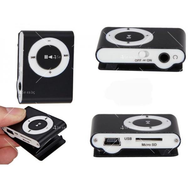Мини МР3 плеър с елегантен дизайн и слушалки 3