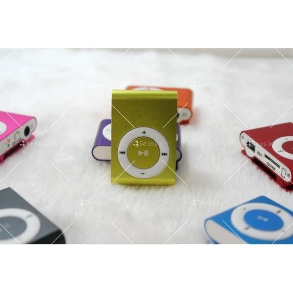 Мини МР3 плеър с елегантен дизайн и слушалки 9