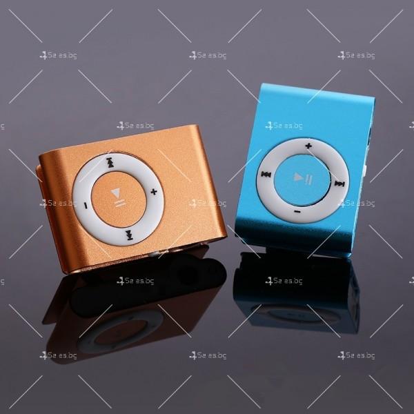 Мини МР3 плеър с елегантен дизайн и слушалки 10