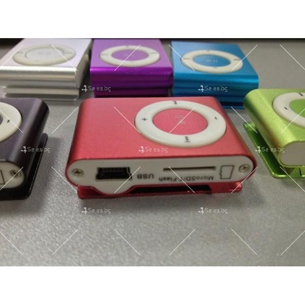 Мини МР3 плеър с елегантен дизайн и слушалки 15