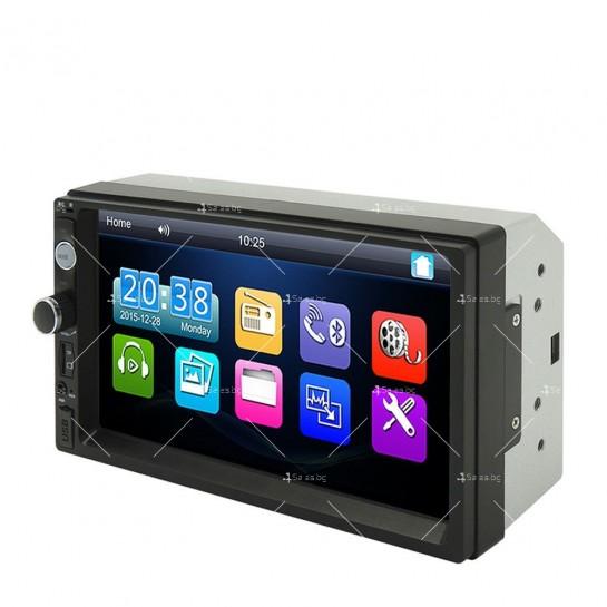 Стерео MP5 плеър със 7 инча тъчскрин мултимедия за кола с камера за задно виждане