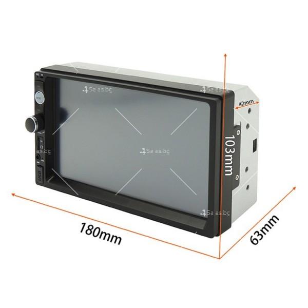 Стерео MP5 плеър със 7 инча тъчскрин мултимедия за кола с камера за задно виждане 3