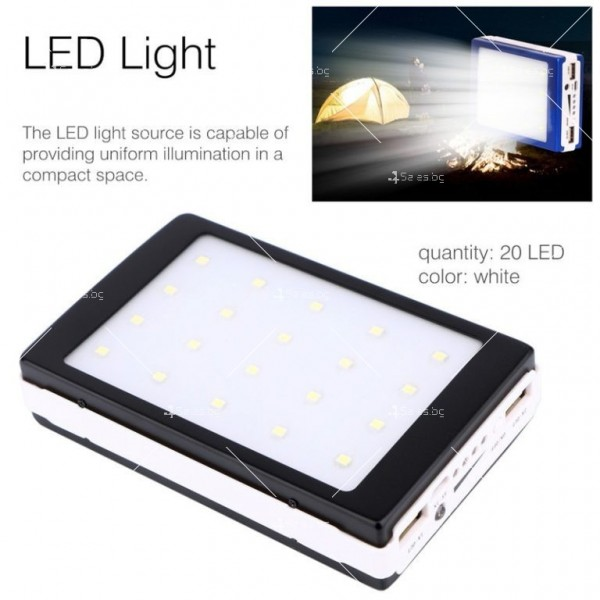 Соларна външна батерия с осветление 50000 mAh TV192 10
