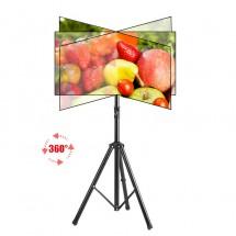 Висока ТВ стойка за екрани 26-55 инча с ротация от 360 градуса TV STOIK-16