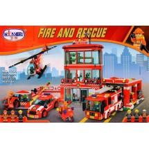 Детски конструктор Пожарна станция