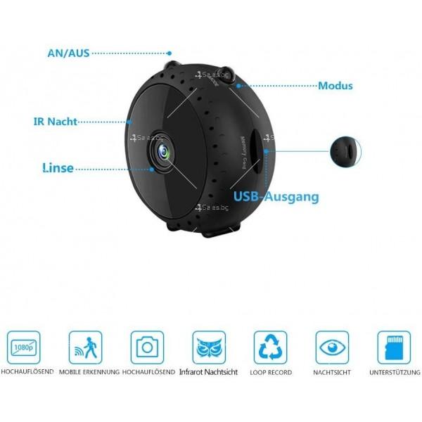 Преносима и безжична мини HD камера за тайно наблюдение с Wi-Fi връзка IP20 2