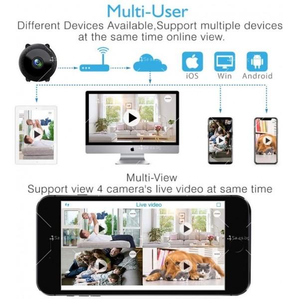 Преносима и безжична мини HD камера за тайно наблюдение с Wi-Fi връзка IP20 3