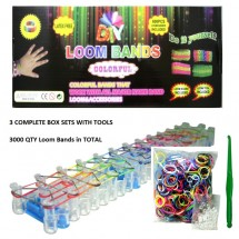 Комплект за цветни гривни ''Rainbow Rubber Bands'' TV579