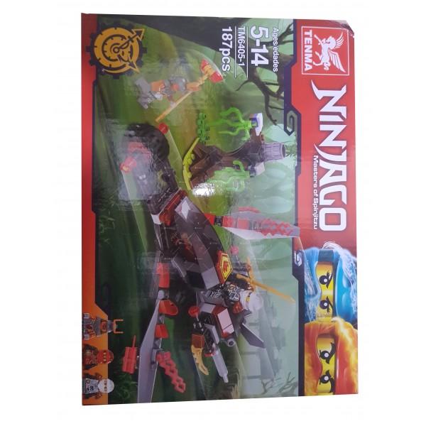 Детски конструктор Ninja – боен джет TM.6405-1 4