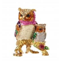 Сувенирна кутия за бижута – нощни сови