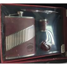 Подаръчен комплект - Метална манерка Джийм бийм, лула, чашка и химикал
