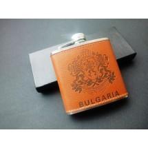 Подаръчен комплект - Джобна манерка България + 4 чаши