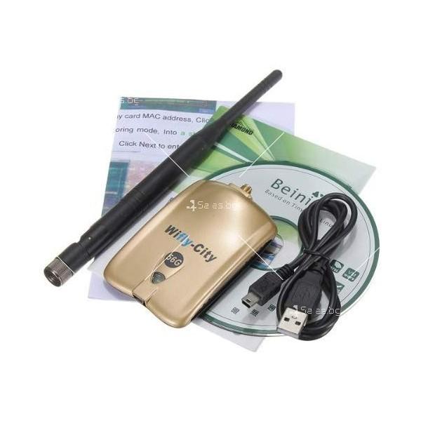 Wifly City Безжичен USB WI-FI адаптер WF24 2