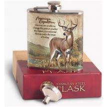 Метална сувенирна манерка за алкохол с елен American expedition