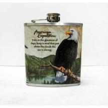 Метална сувенирна манерка за алкохол с орел American expedition