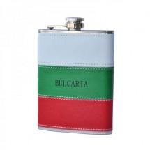 Метална сувенирна манерка за алкохол Bulgaria