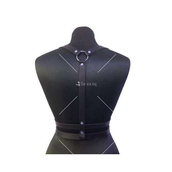 Дамски кожени колани за тяло - тип БДСМ – STL-17-D 1