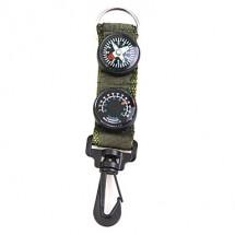 Преносим компас и термометър с клипс