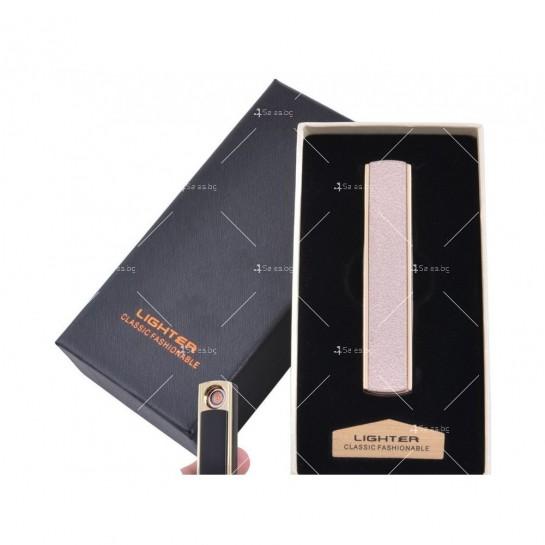 Дизайнерска електронна, USB запалка – сив металик