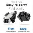 Сгъваем дрон 1808 DRON 1080P, 4K двойна камера и дистанционно управление 5