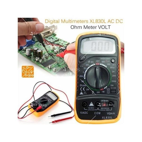 Цифров мултиметър M-830L TV422 3