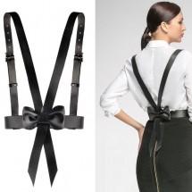 Дамски кожени презрамки с колан – STL-55-D
