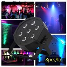 Мини прожектор за сцена и парти с 7 LED светлини TV481