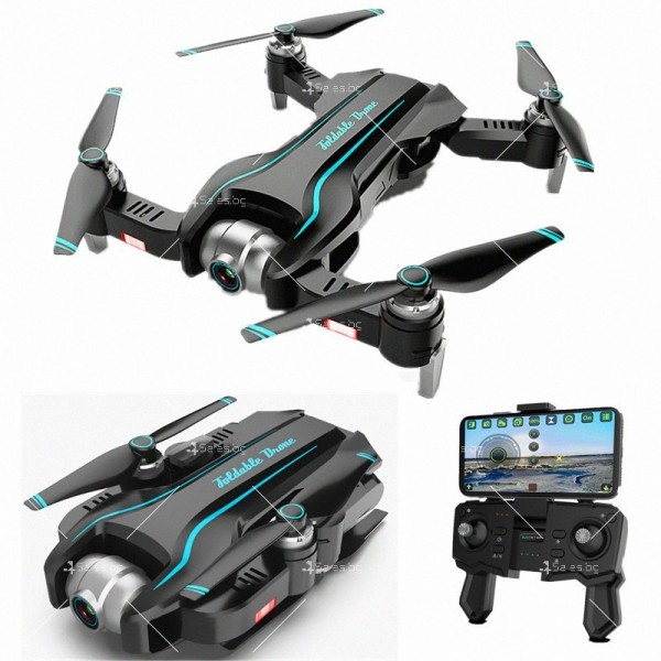 Сгъваем WiFi RC Quadcopter с двойна 4K камера, S17 DRON 4K