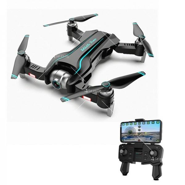 Сгъваем WiFi RC Quadcopter с двойна 4K камера, S17 DRON 4K 3