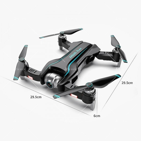 Сгъваем WiFi RC Quadcopter с двойна 4K камера, S17 DRON 4K 6