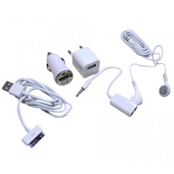 Комплект от пет части за зареждане на телефони iP 4S/4G/3GS/3G UNT-02