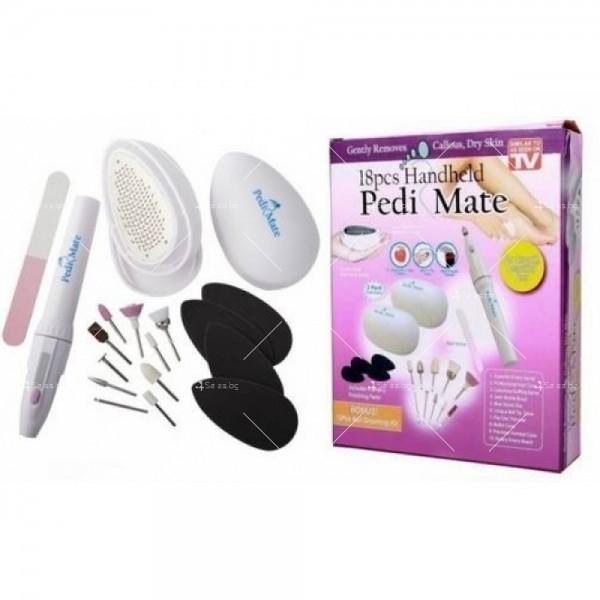 Комплект за домашен маникюр и педикюр Pedi Mate TV555 5