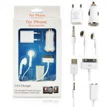 Комплект зарядни за iPhone 4S/4G/3GS/3G и iPhone 5 в 1