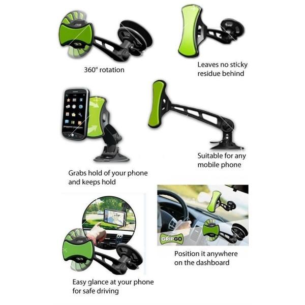 Нано стойка за кола за телефон или GPS ST46 9