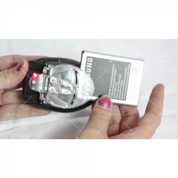 Универсално зарядно за батерии на телефони, апарати, камери 2