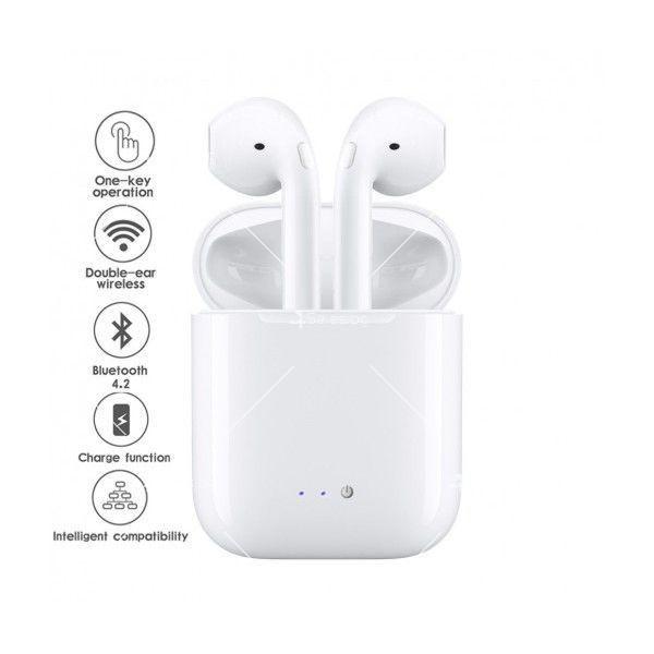 Безжични слушалки със зареждащ кейс i7S TWS 1