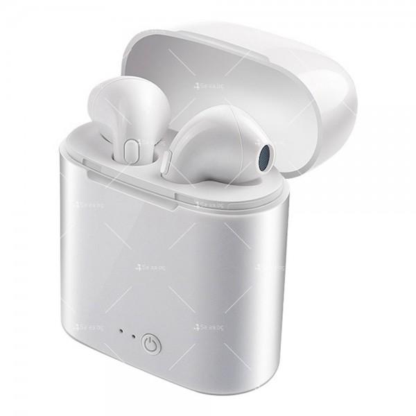 Безжични слушалки със зареждащ кейс i7S TWS