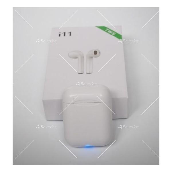 Безжични слушалки със зареждащ кейс i11S TWS 1