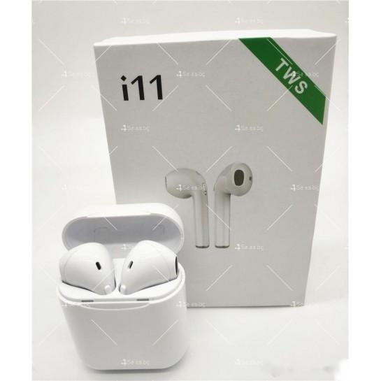 Безжични слушалки със зареждащ кейс i11S TWS