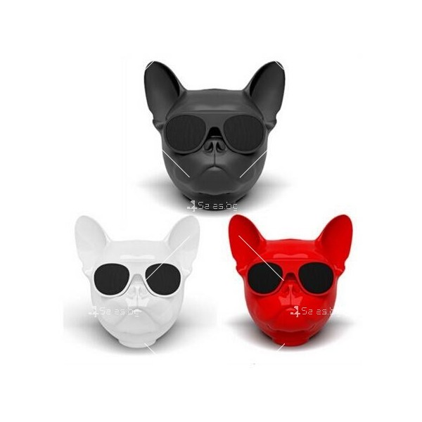 Безжична Bluetooth колонка French bulldog в три цвята 2