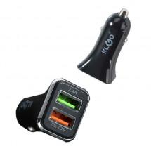 Висококачествено зарядно устройство за автомобил с два USB порта CA5