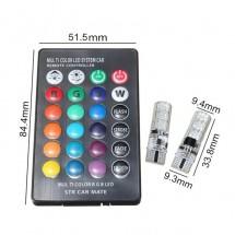 Цветни светлини за автомобил с дистанционно управление
