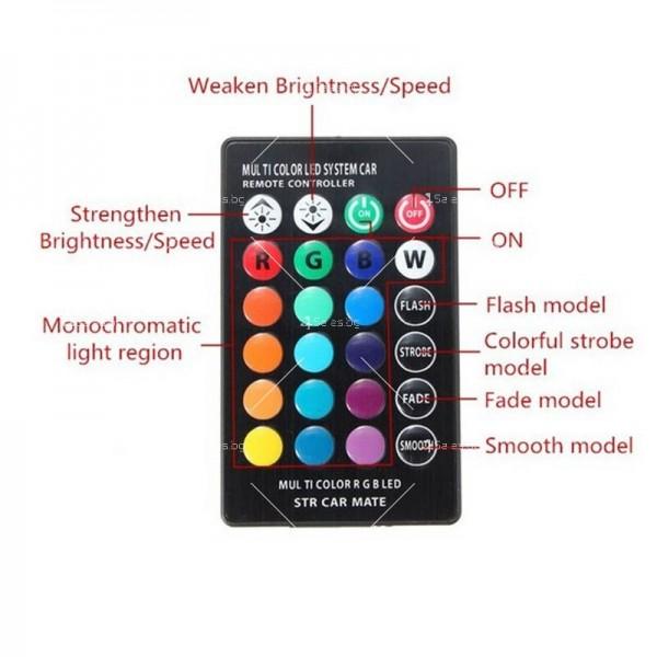 Цветни светлини за автомобил с дистанционно управление 3