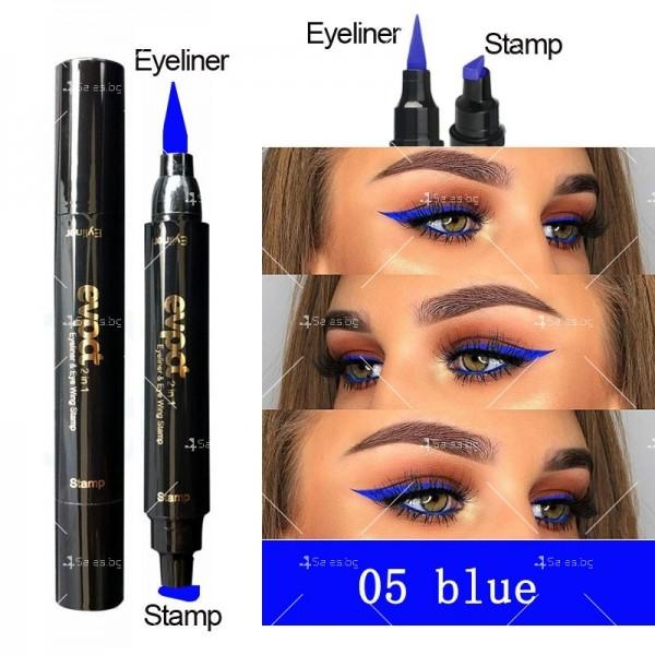 Дълготрайна и водоустойчива очна линия 2 в 1 тип писалка и печат DMN Hzs131 5