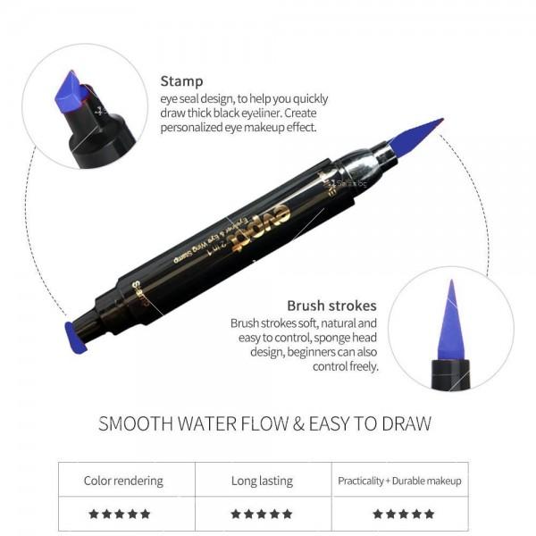 Дълготрайна и водоустойчива очна линия 2 в 1 тип писалка и печат DMN Hzs131 17