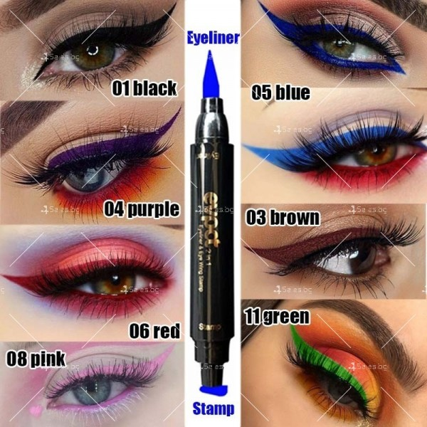 Дълготрайна и водоустойчива очна линия 2 в 1 тип писалка и печат DMN Hzs131 20
