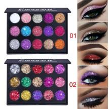 Палитра с блестящи сенки за очи с 15 цвята CmaaDU Hzs134