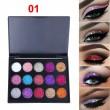 Палитра с блестящи сенки за очи с 15 цвята CmaaDU Hzs134 6